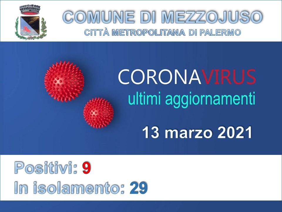 Comunicato Emergenza Covid 13 marzo 2021