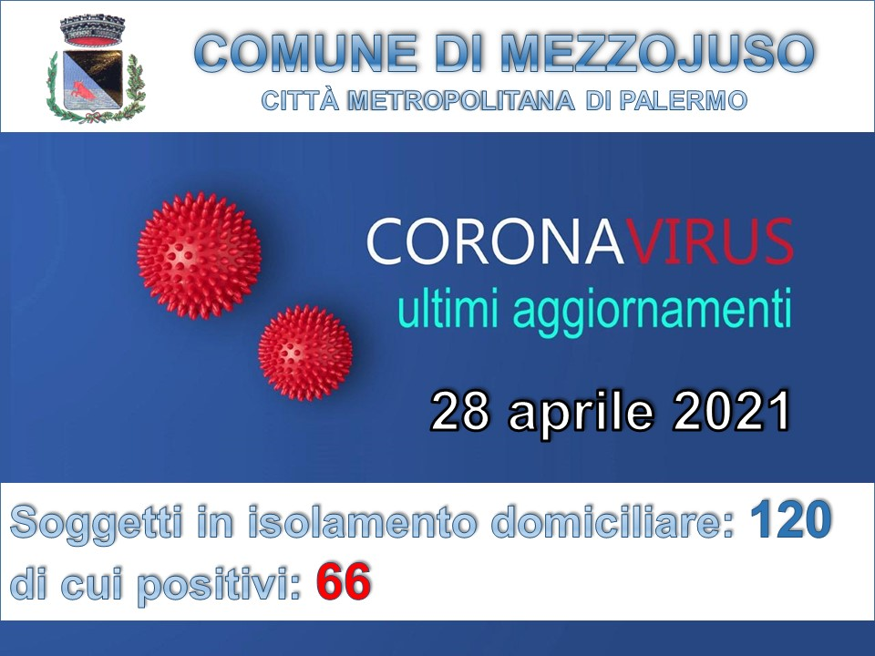 Situazione Emergenza Covid al 28 aprile 2021